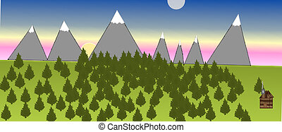 A Mountain Scene - A beautiful scene of the mountains...