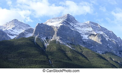 Mountain view in Banff National Park in Canada