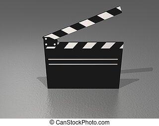 movie clapper - a movie clapper