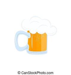 A Mug Of Beer Illustration On A White Background Vector