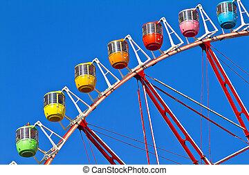 Tokyo\'s Ferris Whee - A multi coloured Tokyo\'s Ferris...