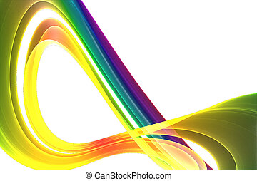a multicolored abstract on white
