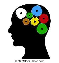 a, multicoloured, mecanismo