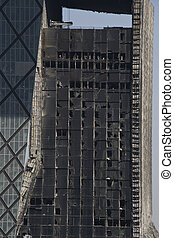 building after a fire