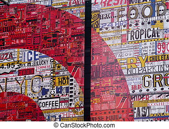 mural - a mural on the side of a building in Manhattan
