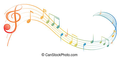 A music note - Illustration of a music note on a white...