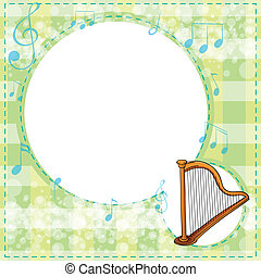 A musical stationery - Illustration of a musical stationery