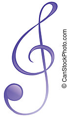 Illustration of a musical symbol on a white background