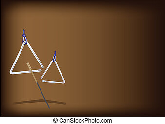 A Musical Triangle on Dark Brown Background