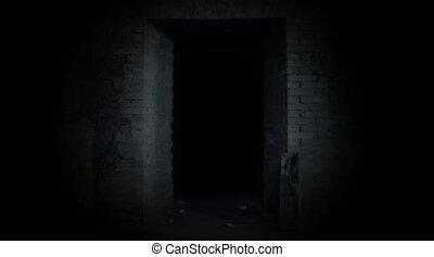 A mysterious door. Door to the Unknown. - A mysterious door....