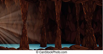 A mystery cave landscape