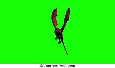 a mythical beast animal is flying - seamless looping - 3 ...