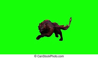 a mythical beast animal is running - seamless looping - 3 ...