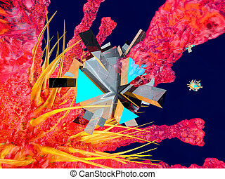 A Nano Bot attacking a Virus