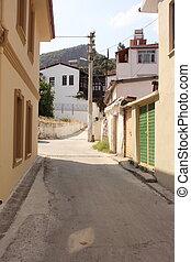 A narrow street in fethiye