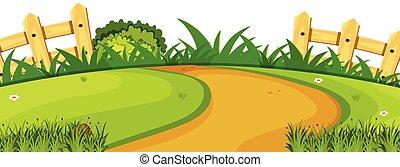 A nature garden template