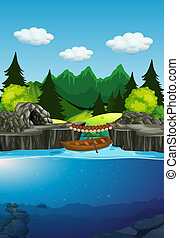 A nature lake background