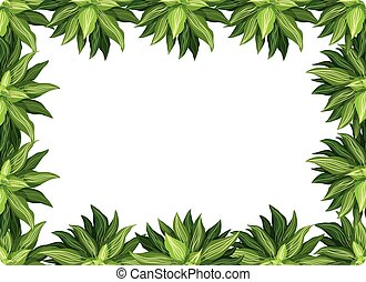 A nature leaf border