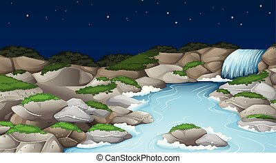 A nature stream landscape