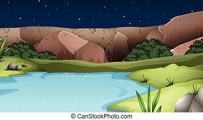 A nature water landscape