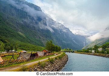a, natureza, de, noruega