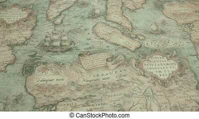 A navigational map with the island of Cardandan