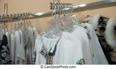 A neat store display of fashionable blouses - A neat display...