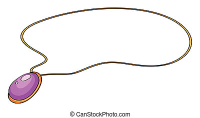 a necklace - illustration of a purple necklace on a white ...