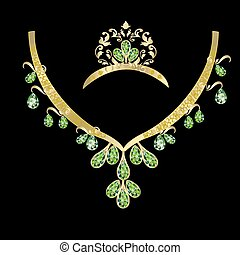 a necklace of green stone