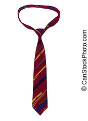 a necktie on white background