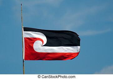 a, nemzeti, maori, lobogó