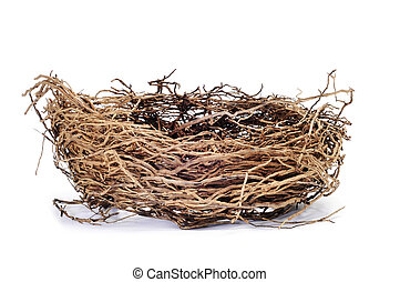 a nest isolated on a white background