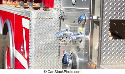 A new fire truck modern elements