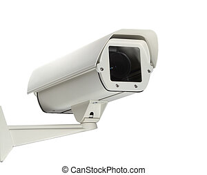 security - A new security camera isolated on a white...