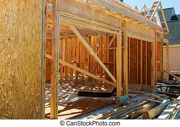 A new stick built home under construction