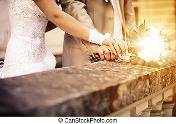 A newly weding. Wedding bouquet