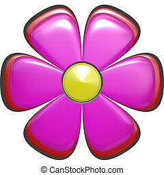 flower - a nice big bright and beautiful rendered flower