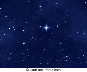 christmas star - a nice blue star field of bright and...