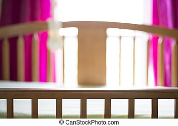 a nice cradle in baby room