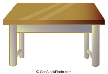 a nice drawing of a brown desk