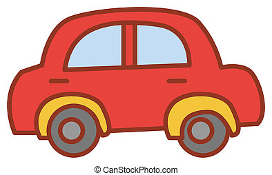 a nice drawing of a red car