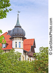 house with tower in bavaria