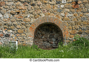 a niche in the wall