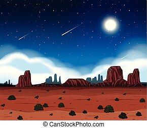 A night at desert