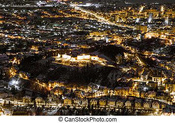 A night exposure over Brasov