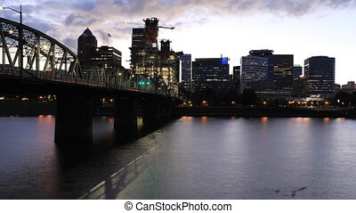 Night to day timelapse of Portland, Oregon - A Night to day...