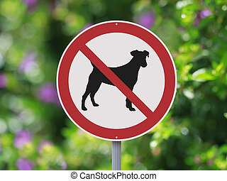 No Dogs Allowed - A No Dogs Allowed sign