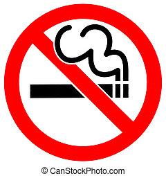No Smoking - A 'No Smoking' Sign.