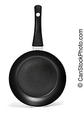 nonstick frying pan - a nonstick frying pan on a white ...