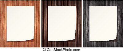 A Note Paper on Wooden Background